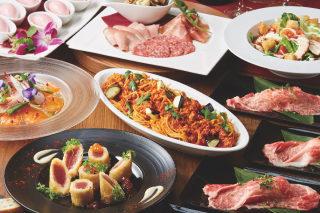 大皿でシェアして楽しむパーティープラン(4名様以上、2時間飲み放題)のご案内